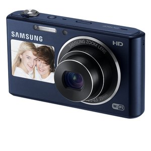 Samsung DV150F 16.2MP Smart WiFi Digital Camera with 5x Optical Zoom and 2.7 front and 1.5 rear Dual LCD Screens (Black)
