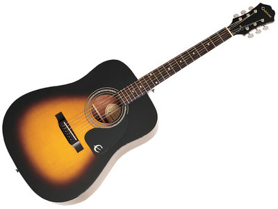 Epiphone DR 100 Semi Acoustic Guitar (Sunburst)