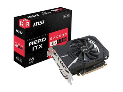 MSI Radeon RX 550 AERO ITX 4G OC 4GB 128-Bit GDDR5 PCI Express x16 HDCP Ready Graphics Card (1 Year Local Warranty)