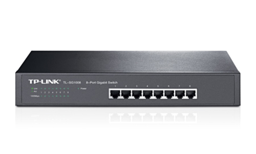 TP-LINK TL-SG1008 Unmanaged 8-Port Gigabit Desktop Switch