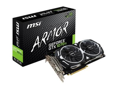 MSI GeForce GTX 1070 TI ARMOR 8G 8GB 256-Bit GDDR5 PCI Express 3.0 x16 HDCP Ready SLI Support Graphics Card (1 Year Warranty)