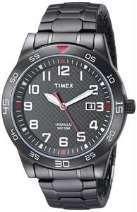Timex TW2P616009J Main Street Gunmetal-Tone Mens Watch with Link Bracelet