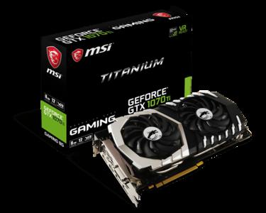 MSI Nvidia GTX 1070TI Titanium 8GB