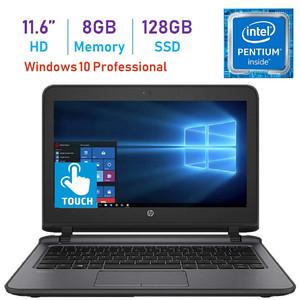 HP Business ProBook 11.6-inch HD WLED Touchscreen Laptop PC (Intel Pentium 4405U 2.10GHz Processor  8GB DDR4  128GB SSD  HDMI  Webcam  WiFi  Bluetooth 4.2  Up to 13 hrs Battery  Windows 10 Pro)