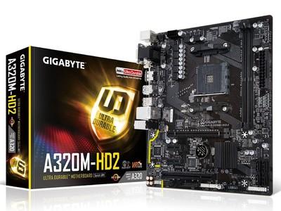 GIGABYTE GA-A320M-HD2 AMD Ryzen AM4 A320 HDMI USB 3.1 Type-A Micro ATX DDR4 Motherboard
