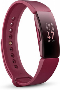 Fitbit Inspire Fitness Tracker  One Size (S & L bands included)  Sangria (Non-heart Rate)