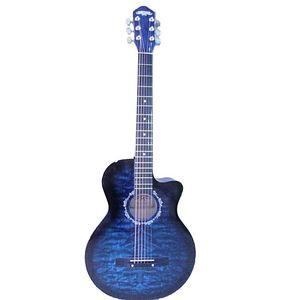 Caravan 40 Acoustic Guitar Blue Burst With Stripes