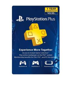 Sony PlayStation Plus - 1 Year Membership Card USA - for PS3 - PS4 - PS Vita