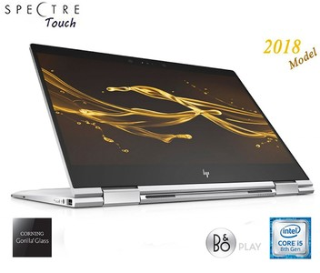 2018 HP Spectre Touch x360 13t-ae00 Silver Convertible 8th Gen Quad Core Intel i5 up to 3.4GHz 8GB 256GB SSD 13.3 FHD Gorilla Glass