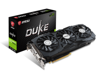 MSI GeForce GTX 1080 Ti DUKE 11G OC 11GB 352-Bit GDDR5X PCI Express 3.0 x16 HDCP Ready SLI Support Graphics Card (1 Year Local Warranty)