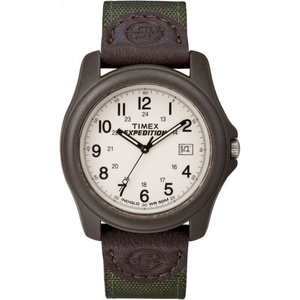 Timex T49101 Expedition Camper Brown Resin Case Green Nylon Strap Watch