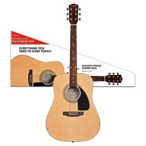 FENDER FA-115 DREADNOUGHT ACOUSTIC GUITAR PACK NATURAL
