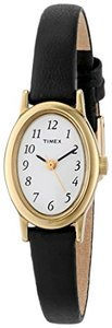 Timex Womens T21912 Cavatina Black Leather Strap Watch