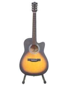 Bell 39 - Matte Finish Semi Acoustic Guitar with Free Guitar Bag - Vintage
