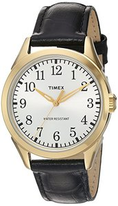 Timex TW2P996009J Main Street Collection Quartz Brass and Leather Casual Watch