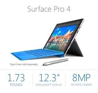 Microsoft Surface Pro 4 6th Gen Intel® Core™ i7 8GB 256GB