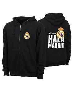 Black Barcelona Fleece Printed Hoodie For Him
