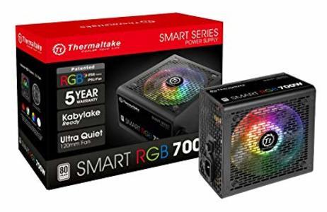 Thermaltake ( PS-SPR-0700NHFAWU-1) Smart RGB 700W 80+ 256-Color RGB Fan ATX 12V 2.3 Kaby Lake Ready Power Supply
