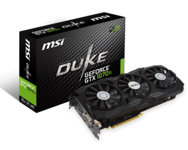 MSI GeForce GTX 1070 Ti DUKE 8G Graphics Card
