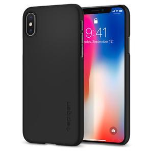 Spigen iPhone X Case Thin Fit Matte Black 057CS22108