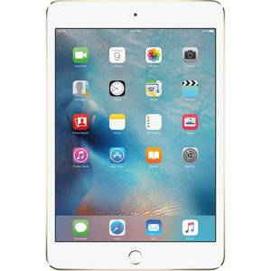 Apple 128GB iPad Mini 4 (Wi-Fi Only  Gold) (MK9Q2LL/A) with Pink Smart Cover + Accessories