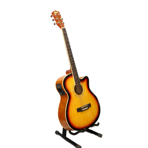 KMT Italian 40 4 Band With Tuner Semi Acoustic Guitar (Sun Burst)