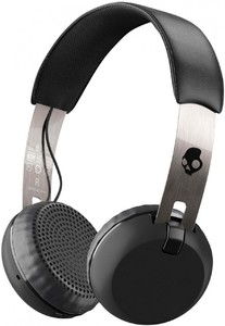 Skullcandy Grind Bluetooth Wireless On-Ear Headphones with Built-In Mic And Remote Black/Chrome - S5GBW-J539