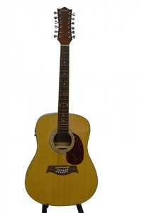 Kenneth 12 String With 3 Band Semi Acoustic Guitar Natural