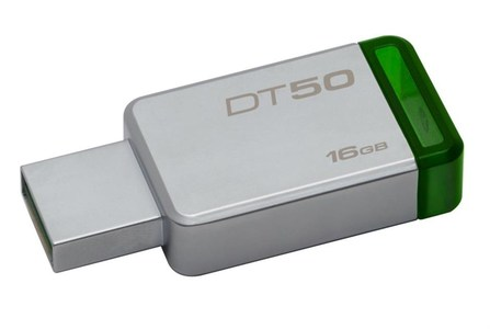 Kingston 16GB USB 3.0 DataTraveler 50 (Metal/Green) - DT50/16GBFR