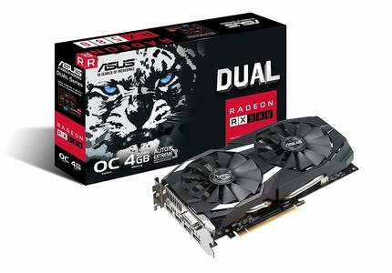 ASUS DUAL-RX580-O4G-GAMING 4GB GDDR5 256-bit Powered by AMD Radeon RX580 Graphics Card