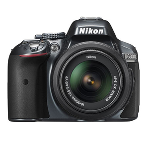 Nikon D5300 24.2 MP Digital SLR Camera 18-55mm Lens (8GB Memory Card and Bag)