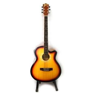 KMT Italian 40 4 Band Semi Acoustic Guitar (Sun Burst)