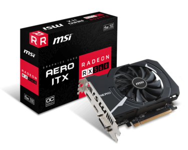 MSI Radeon RX 560 DirectX 12 RX 560 AERO ITX 4G OC