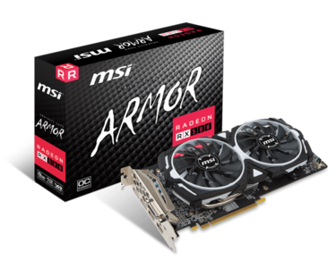MSI Radeon RX 580 ARMOR 8G OC 8GB 256-Bit GDDR5 PCI Express x16 HDCP Ready CrossFireX Support Graphics Card (1 Year Local Warranty)