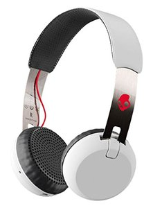 Skullcandy Grind Bluetooth Wireless On-Ear Headphones With Built-In Mic and Remote White - S5GBW-J472