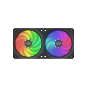 Cooler Master MFX-B2D2-18NPA-R1 Master Fan SF240R ARGB 240mm All-in-One Square Frame Fan w/16 Independently-Controlled Addressable RGB LEDs  Cable Management  PWM Control Fan for Computer Case and CPU Liquid Cooler