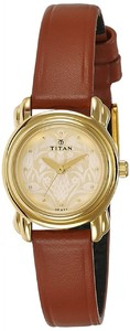 Titan 2534YL04 Analog Gold Dial Womens Watch
