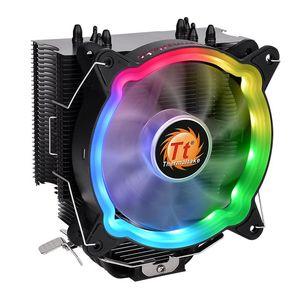 Thermaltake CL-P065-AL12SW-A UX200 ARGB Intel/AMD Universal Socket Hydraulic Bearing 130W Lighting CPU Cooler - Black