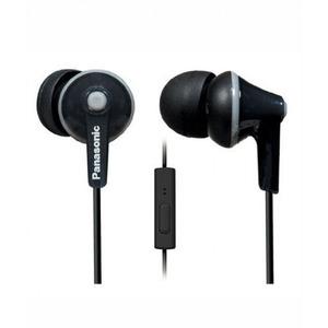 Panasonic ErgoFit In-Ear Headphones with Mic Black (RP-TCM125E)