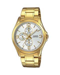 Casio Golden Alloy Bracelet Watch For Men MTP-V301G-7AUDF