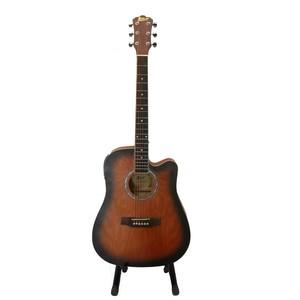 Swift Horse Italian 41 Jumbo 4 Band With Tuner Semi Acoustic Guitar (Dark Natural)