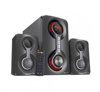 Audionic Vision 20 - 2.1 Channel Speaker System With Bluetooth  FM Radio  USB/microSD Card Support & Wireless Remote Led Display
