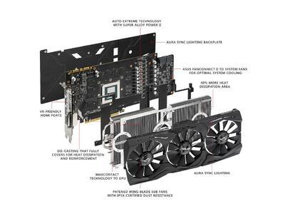ASUS ROG GeForce GTX 1080 Ti DirectX 12 STRIX-GTX1080TI-O11G-GAMING 11GB 352-Bit GDDR5X PCI Express 3.0 HDCP Ready Video Card (3 Months Local Warranty)