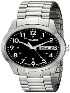Timex T2M932 Silver-Tone Dress Watch With Expansion Band