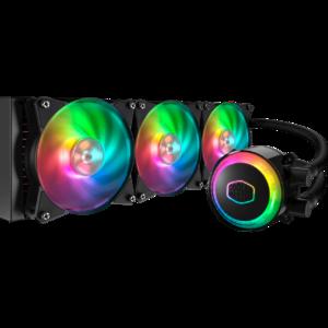 Cooler Master MLX-D36M-A20PC-R1 Master Liquid ML360R RGB Close-Loop AIO CPU Liquid Cooler  360 Radiator  Dual Chamber Pump  Dual MF120R Fans  Independently-Controlled ARGB LEDs for AMD Ryzen/Intel