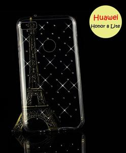 Huawei Honor 8 Lite Cover - Transparent Fancy Cover