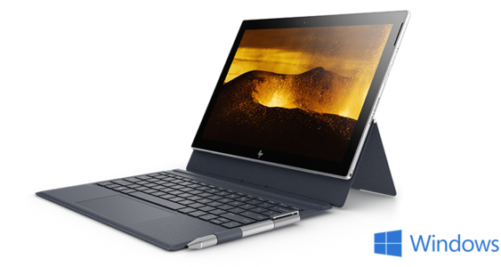 HP Envy X2 Detachable 12-G002TU Core i5-7Y54 8GB RAM 256GB PCIe NVMe SSD 12.3 WUXGA+ Touch Display Windows 10 Laptop (Open Box)