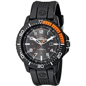 Timex T499409J Expedition Uplander Stainless Steel Watch with Textured Band