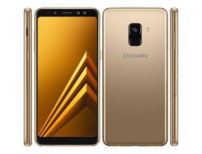 Samsung Galaxy A8 2018 Dual Sim (4G  4GB RAM  64GB ROM  Gold) Official Warranty