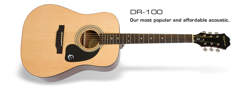 Epiphone DR 100 Semi Acoustic Guitar (Natural)